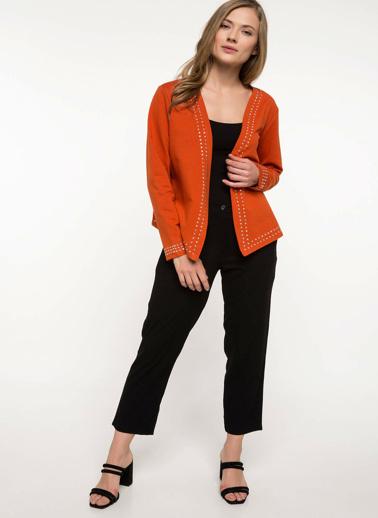 DeFacto Trok Detaylı Blazer Ceket Oranj